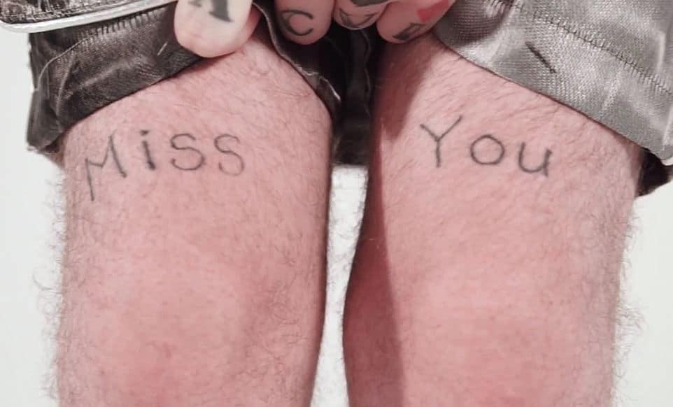 lil peep miss you tattoo