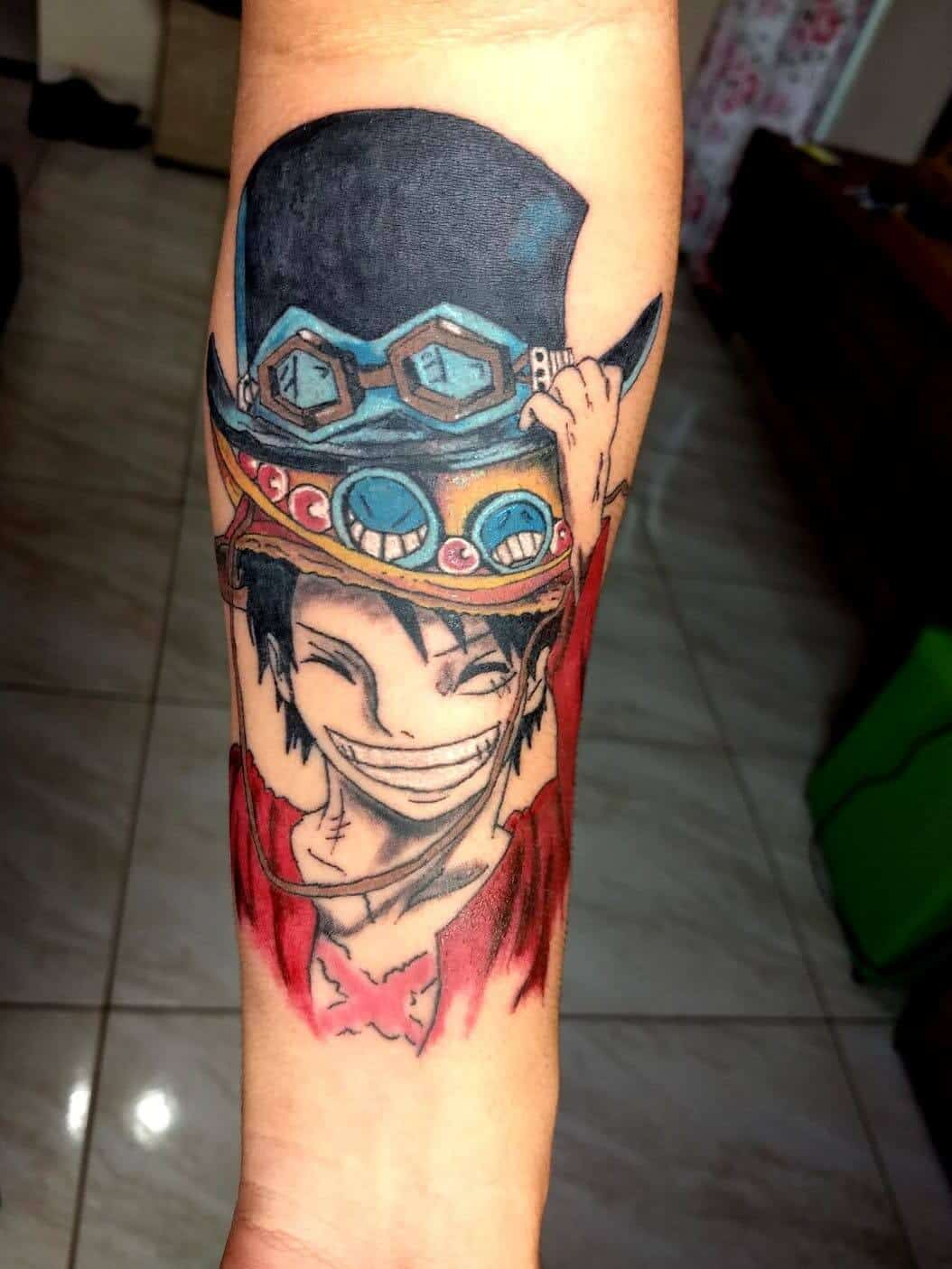 luffy arm tattoo