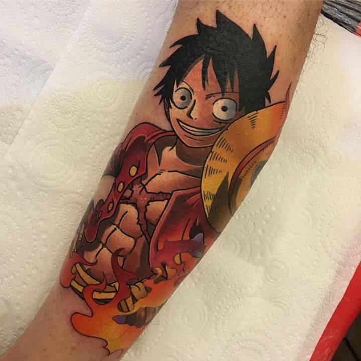 luffy tattoo arm