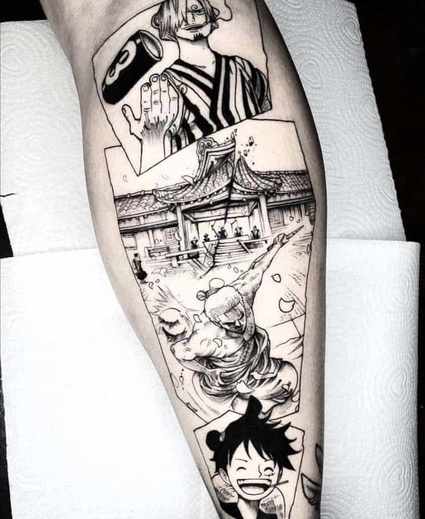 one piece tattoo sleeve