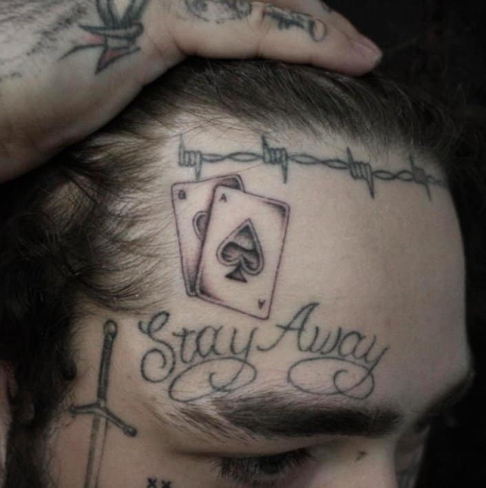 post malone ace of spades tattoo
