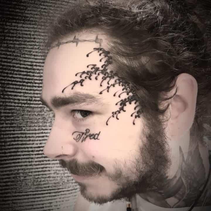 post malone etching tattoo