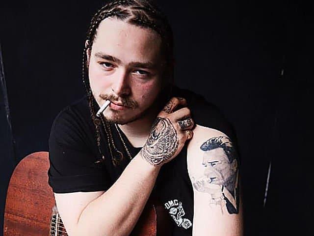 post malone johnny cash portrait tattoo