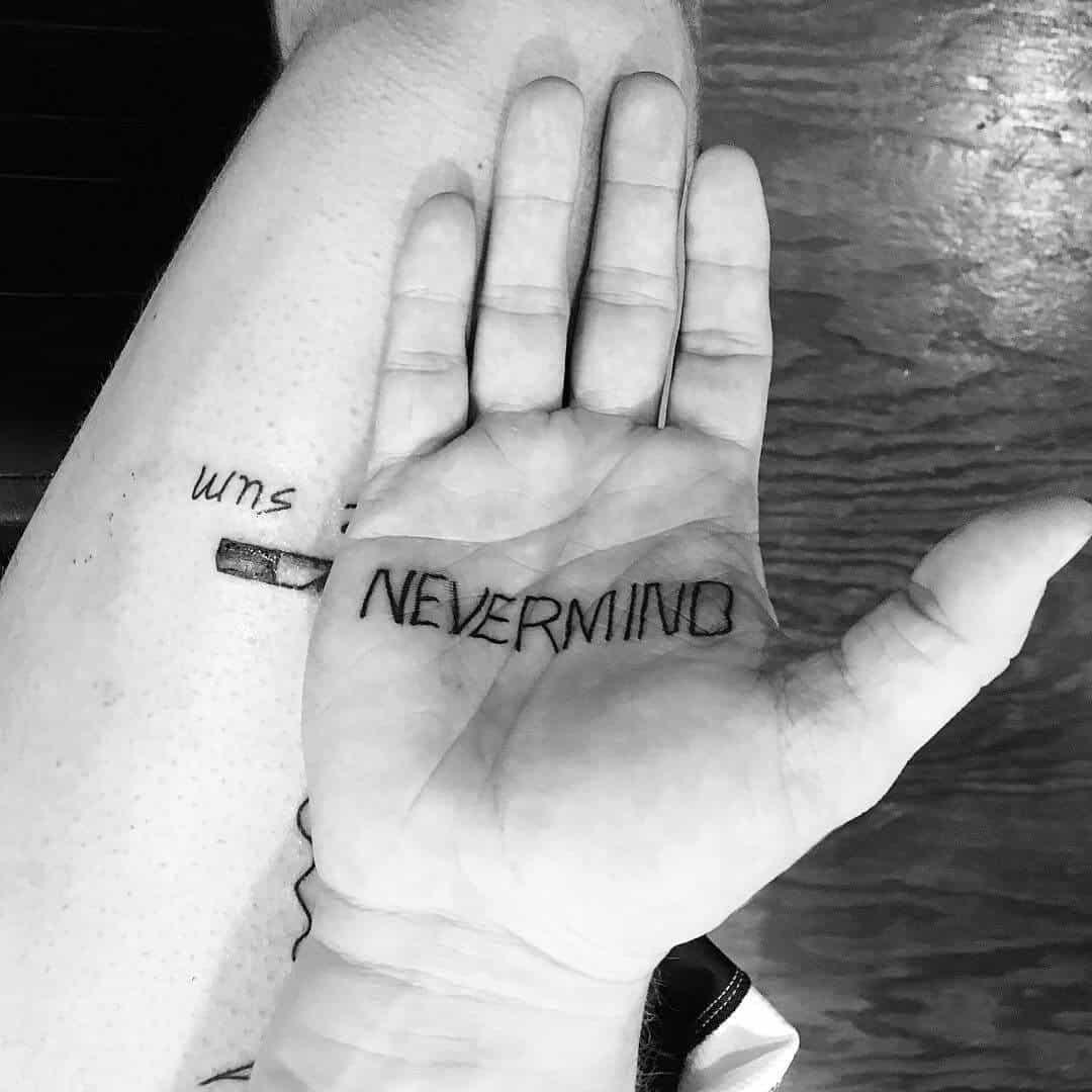 post malone nevermind tattoo