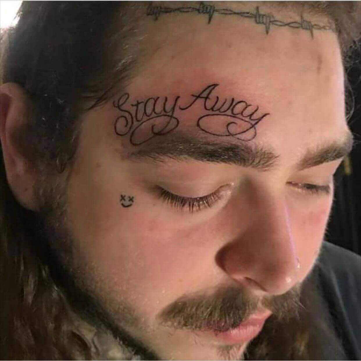 post malone stay away tattoo