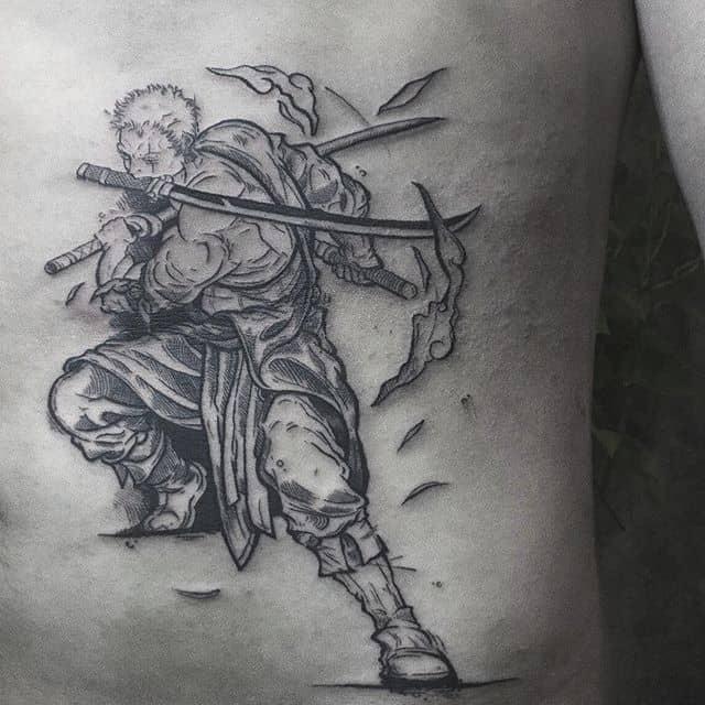 roronoa zoro tattoo