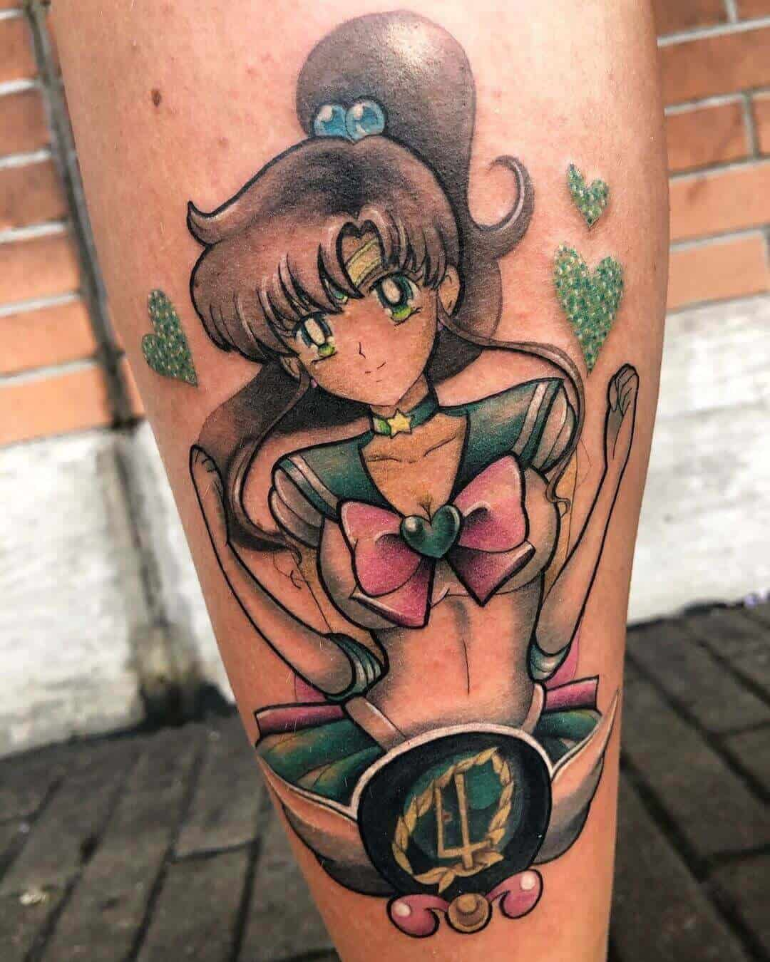 sailor jupiter leg tattoo