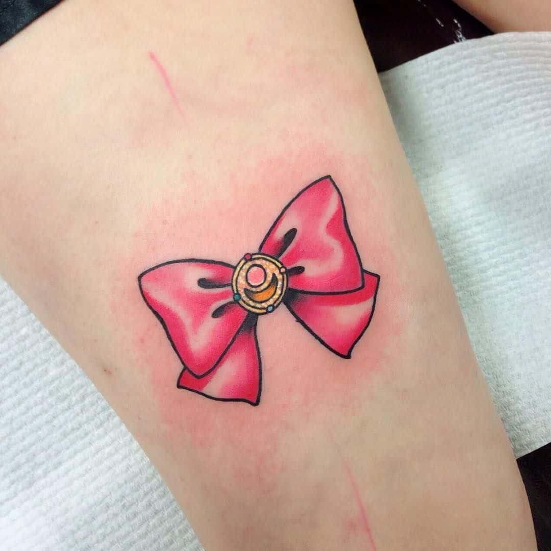 sailor moon bow tattoo