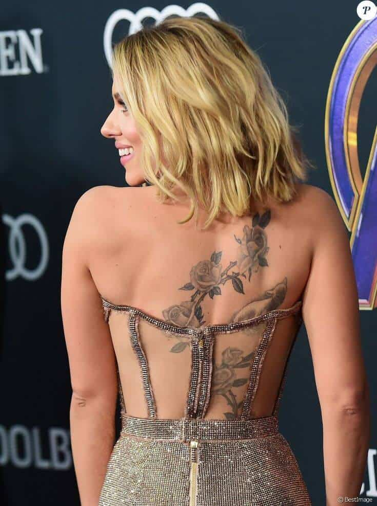 scarlett johansson roses and sheep tattoo