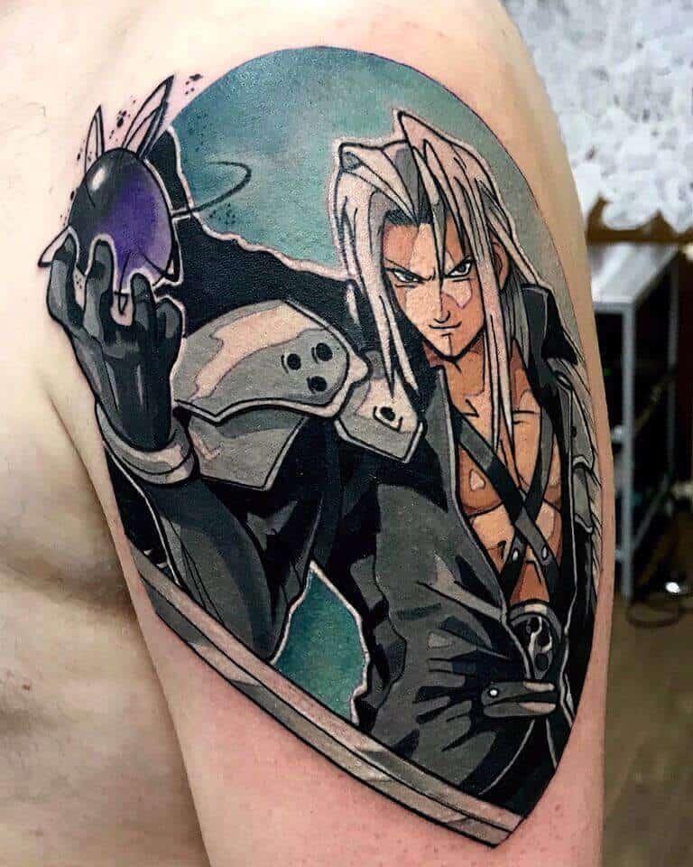 sephiroth arm tattoo