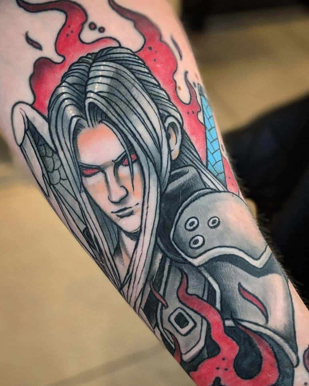 sephiroth sleeve tattoo