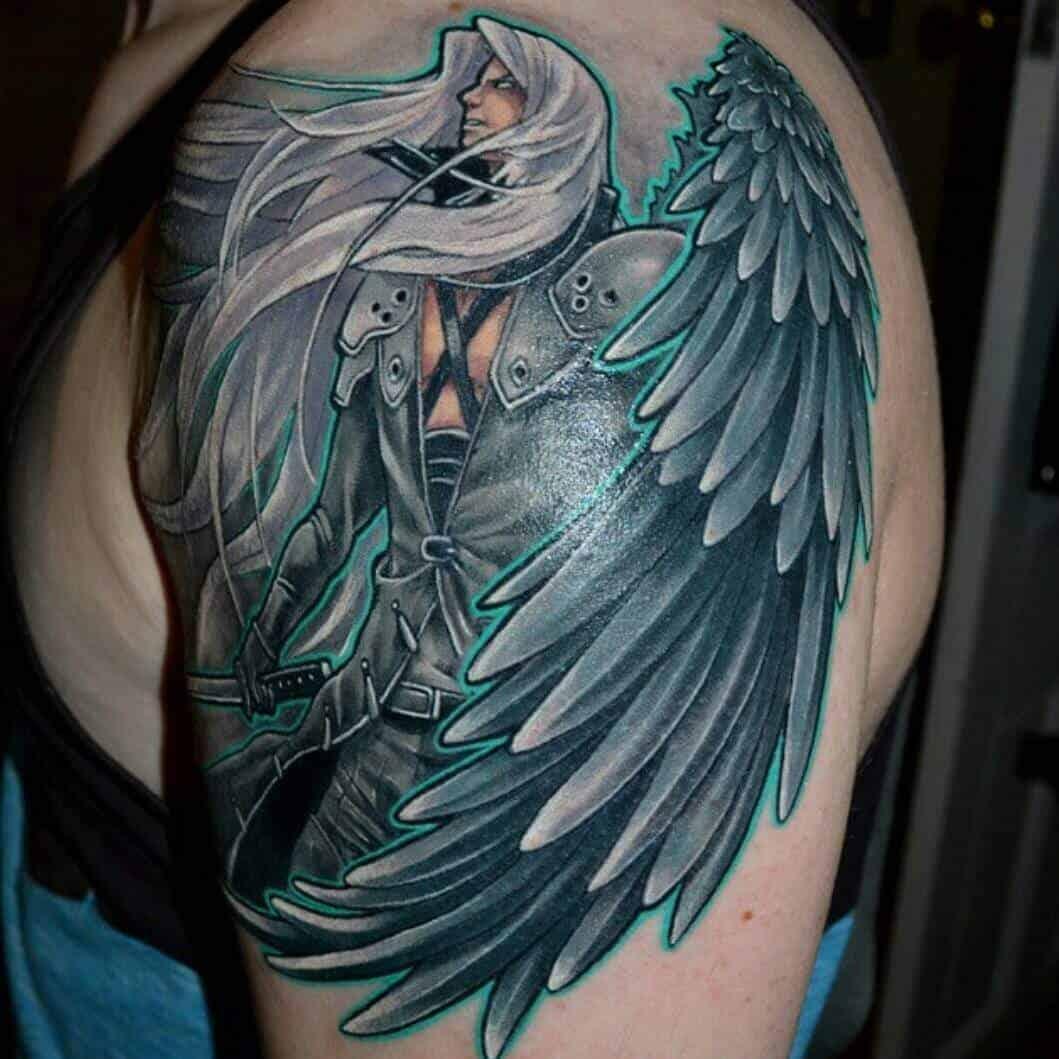 sephiroth tattoo on arm