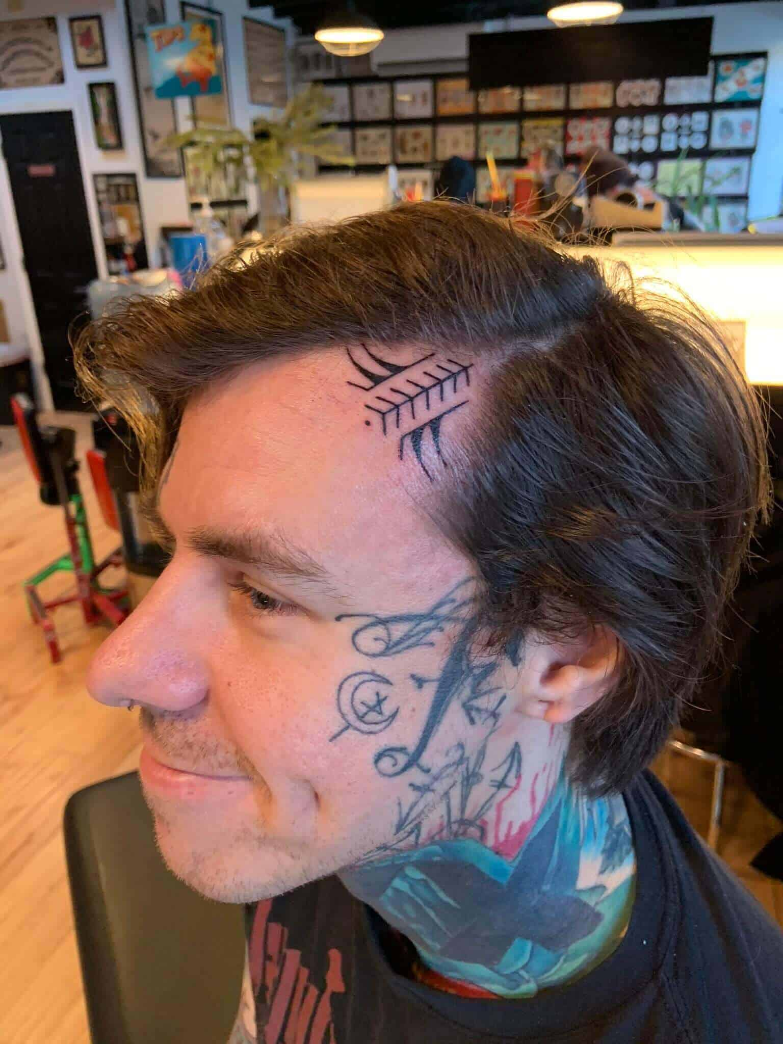 shayne smith hairline tattoo