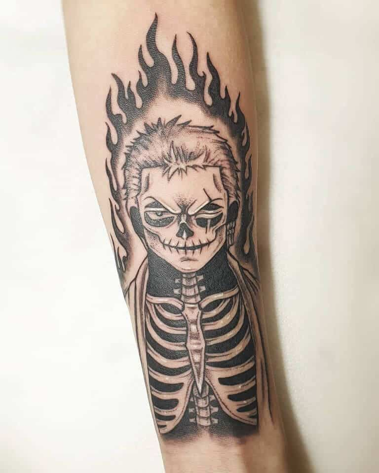 skeleton zoro tattoo