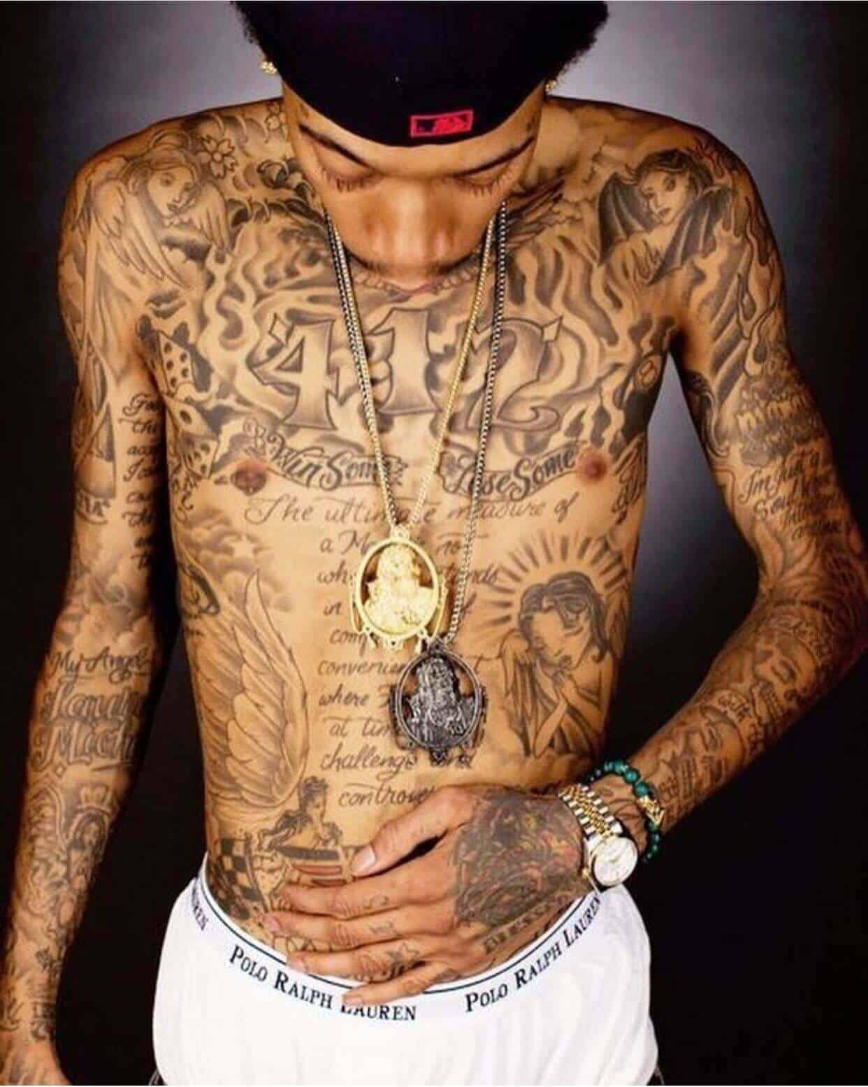 wiz khalifa arm tattoo