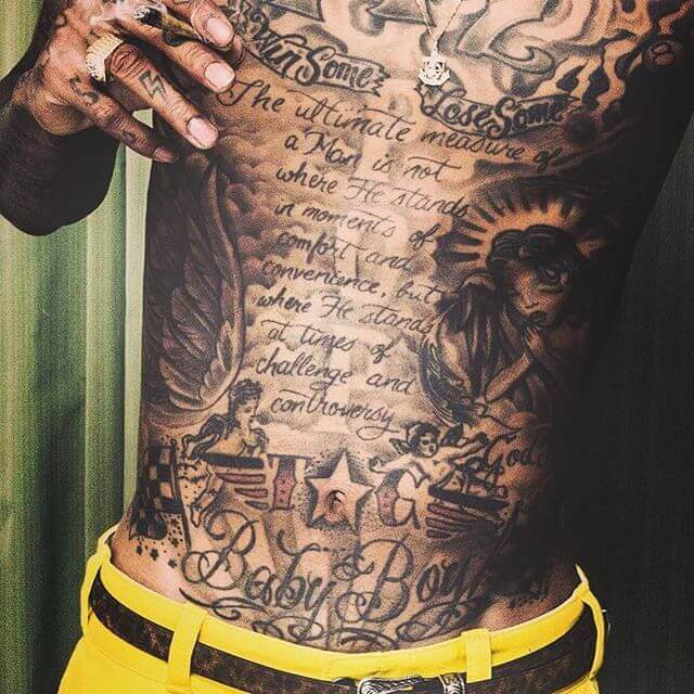 wiz khalifa stomach tattoo