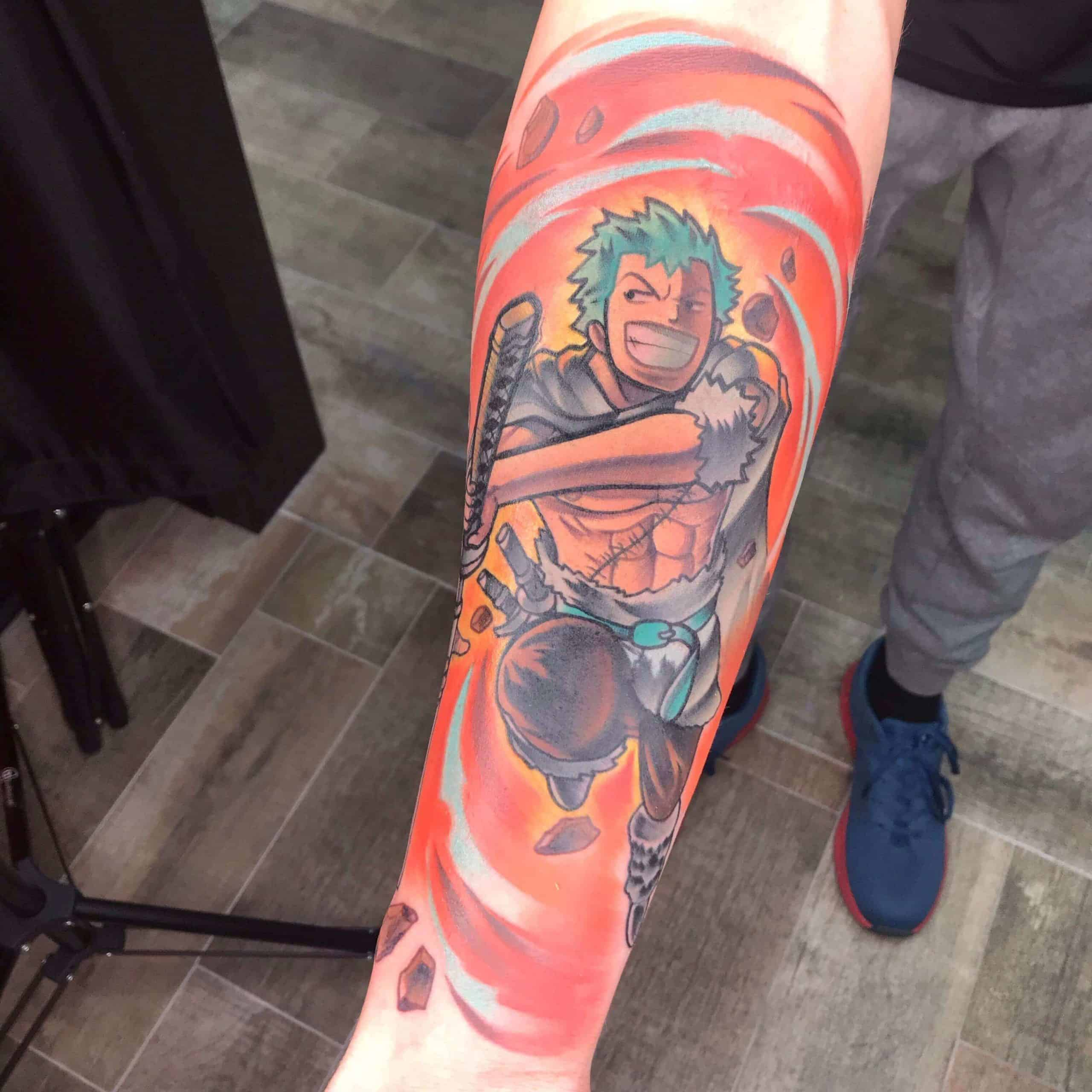 zoro sleeve tattoo